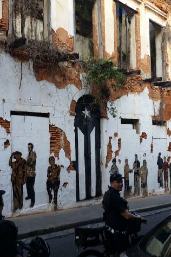 La puerta pintada está ubicada en la Calle San José de la ciudad amurallada. Foto:Suministrada. Imagen Por: