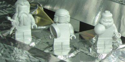 """Las tres figuritas de LEGO que llegaron a Júpiter en la sonda """"Juno"""" Foto:NASA. Imagen Por:"""