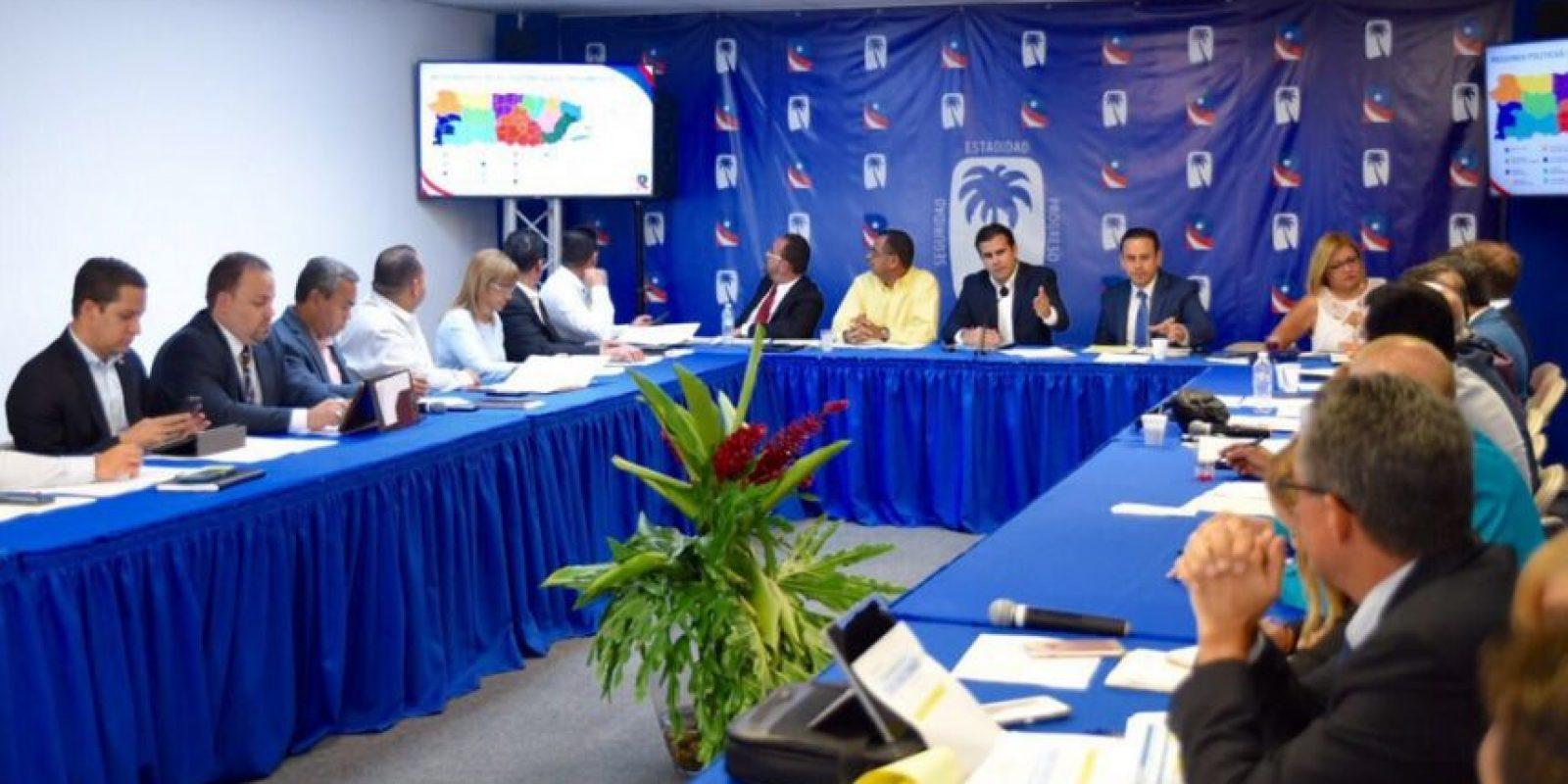 Reunión directorio PNP Foto:Tomada de Twitter @ricardorossello. Imagen Por: