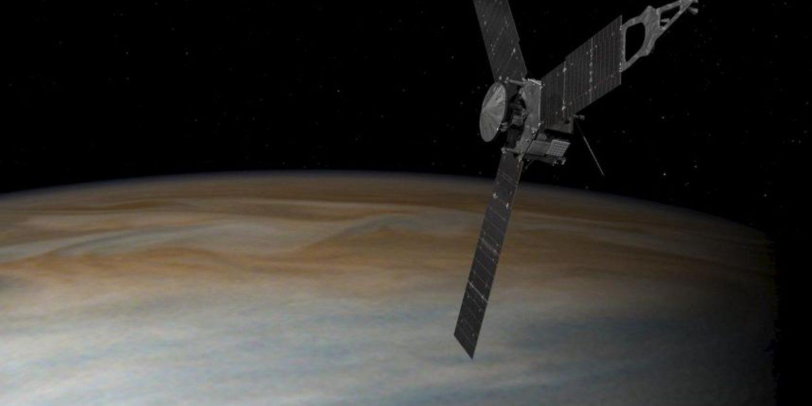 Así de cerca estará Juno de Júpiter. Esta es una animación Foto:NASA. Imagen Por: