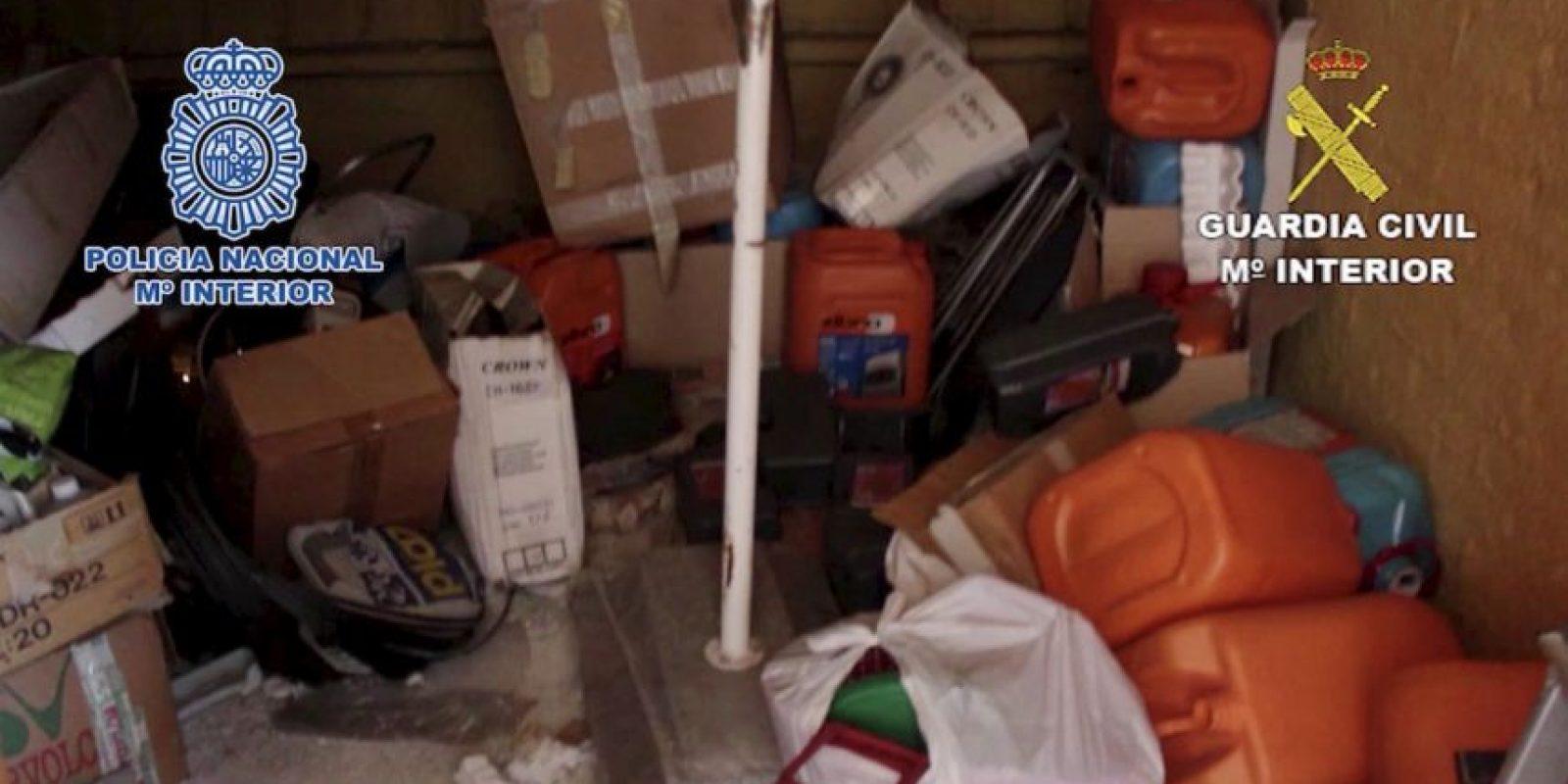 Además de tener todo tipo de objetos inutilizados Foto:Policia Nacional de España. Imagen Por: