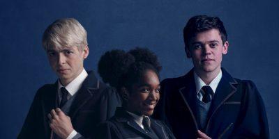 """Anthony Boyle (""""Scorpius Malfoy""""), Cherrelle Skeete (""""Rose Granger-Weasley"""") y Sam Clemmett (""""Albus Severus Potter""""). Foto:Pottermore. Imagen Por:"""