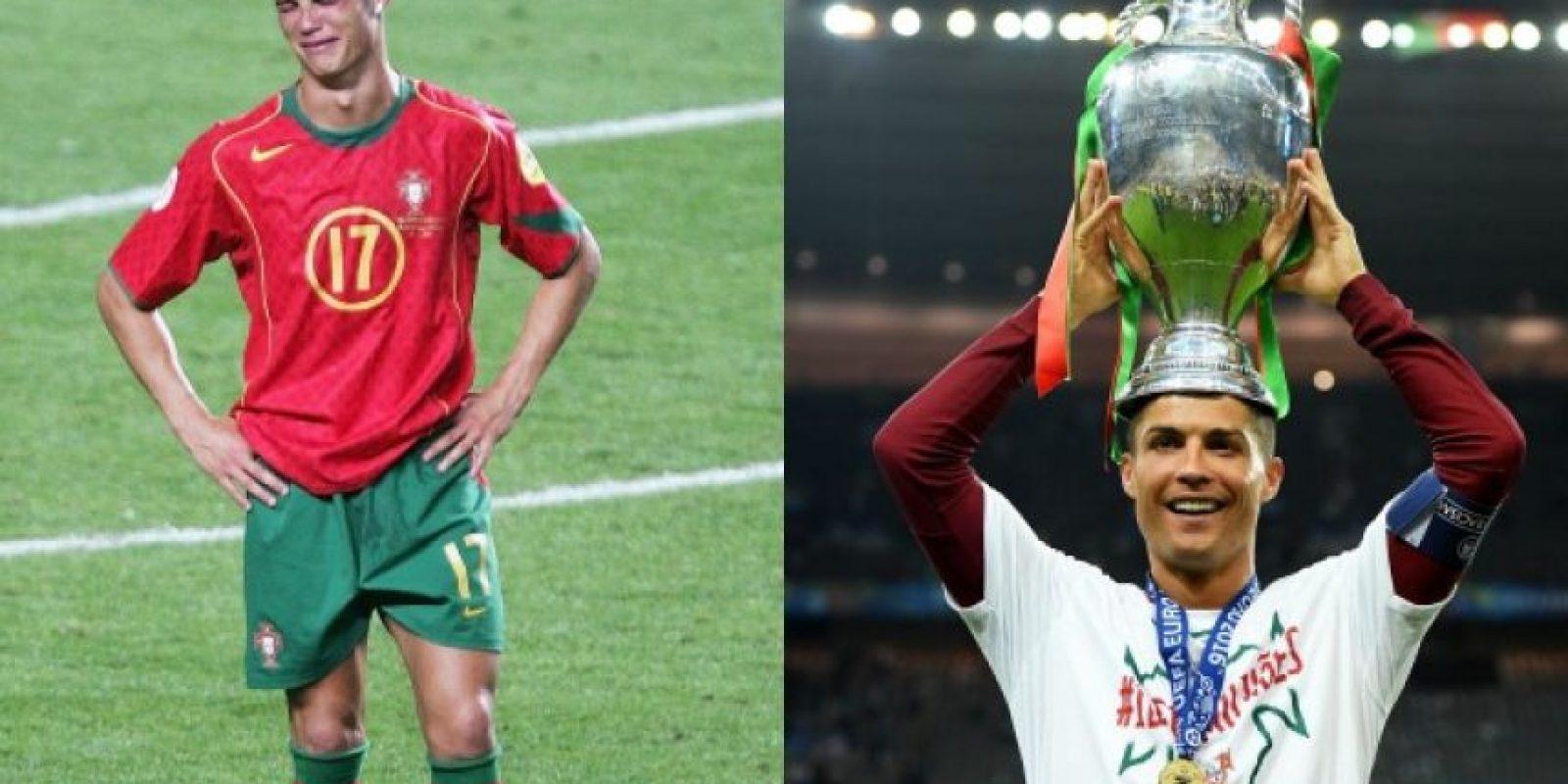Cristiano Ronaldo se desquitó de la final que perdió en 2004 en su casa Foto:Getty Images. Imagen Por: