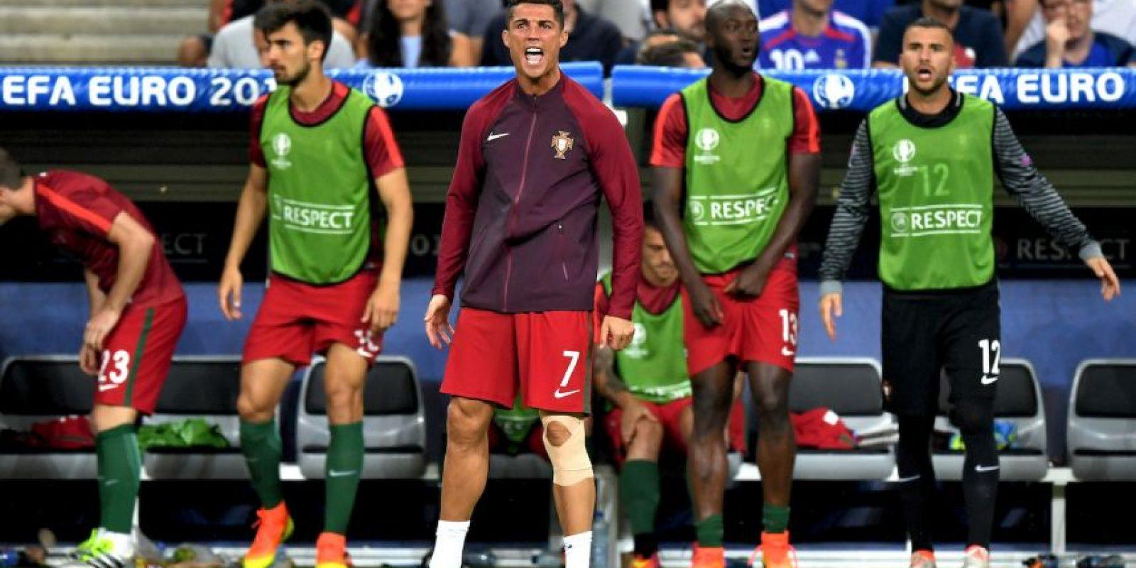 Así vivió Cristiano Ronaldo la final de la Euro 2016 Foto:Getty Images. Imagen Por: