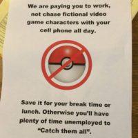 En esta carta, un jefe les hace saber a sus empleados que están ahí para trabajar y no para cazar pokémones. Foto:Twitter. Imagen Por: