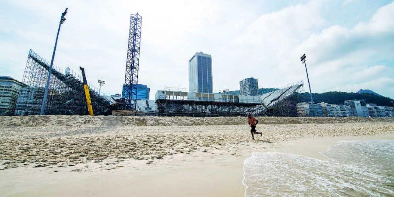 La arena devoleibol de playa es el más grande en el borde de Copacabana, con capacidad para 12 mil personas Foto:BRUNA PRADO / METRO RIO. Imagen Por: