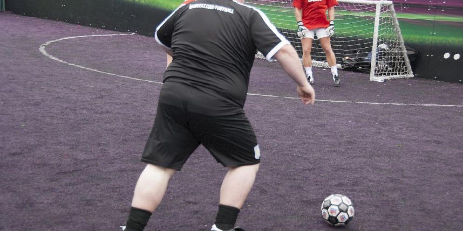 Man V Fat: La liga de fútbol donde perder peso es la meta. Foto:manvfatfootball.org. Imagen Por: