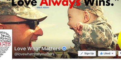 Ustedes, ¿qué acto de bondad han realizado hoy? Foto:Reproducción Love What Matters. Imagen Por: