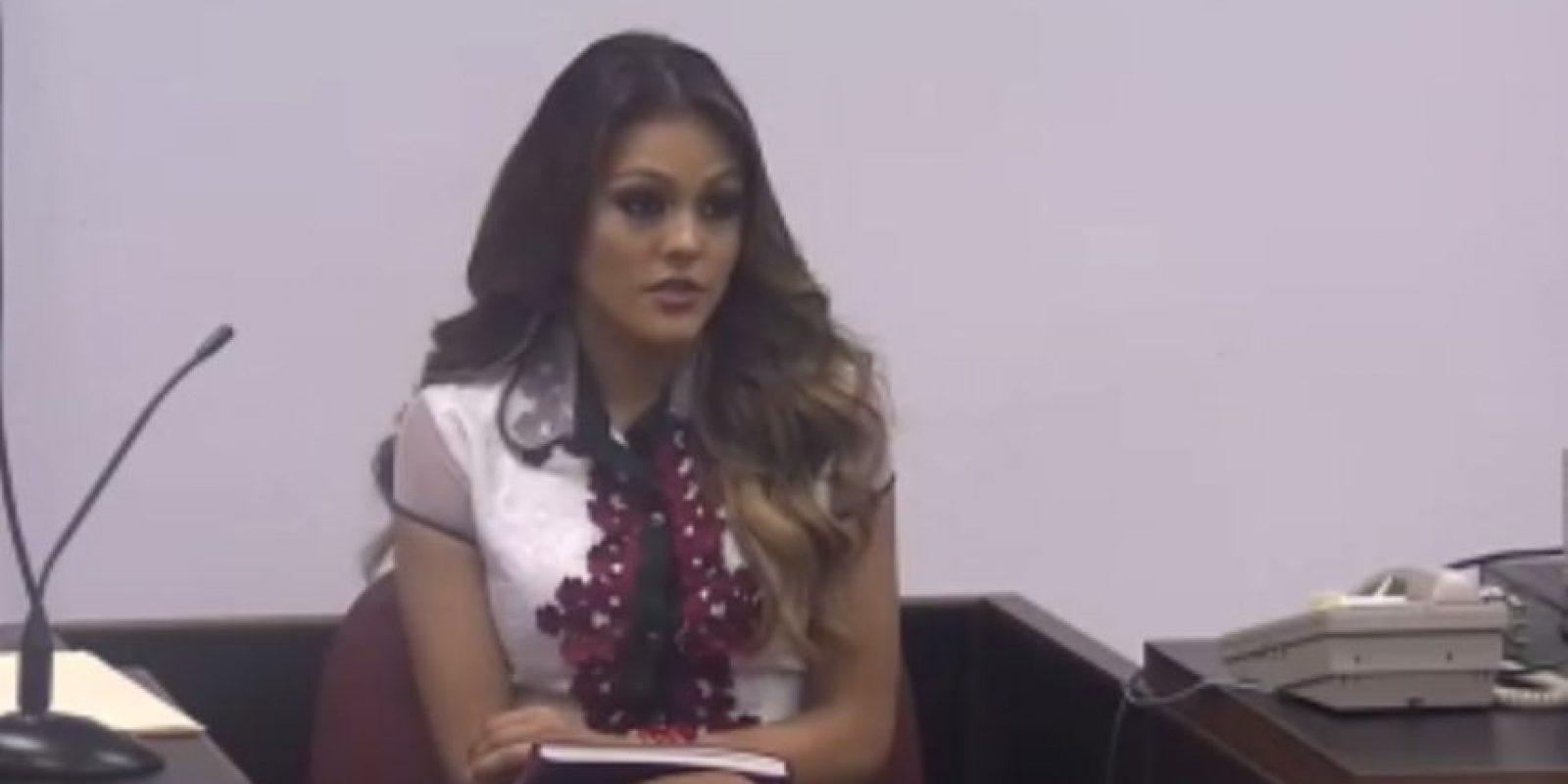 Kristhielee fue la primera en testificar en el juicio. Foto:captura de pantalla. Imagen Por: