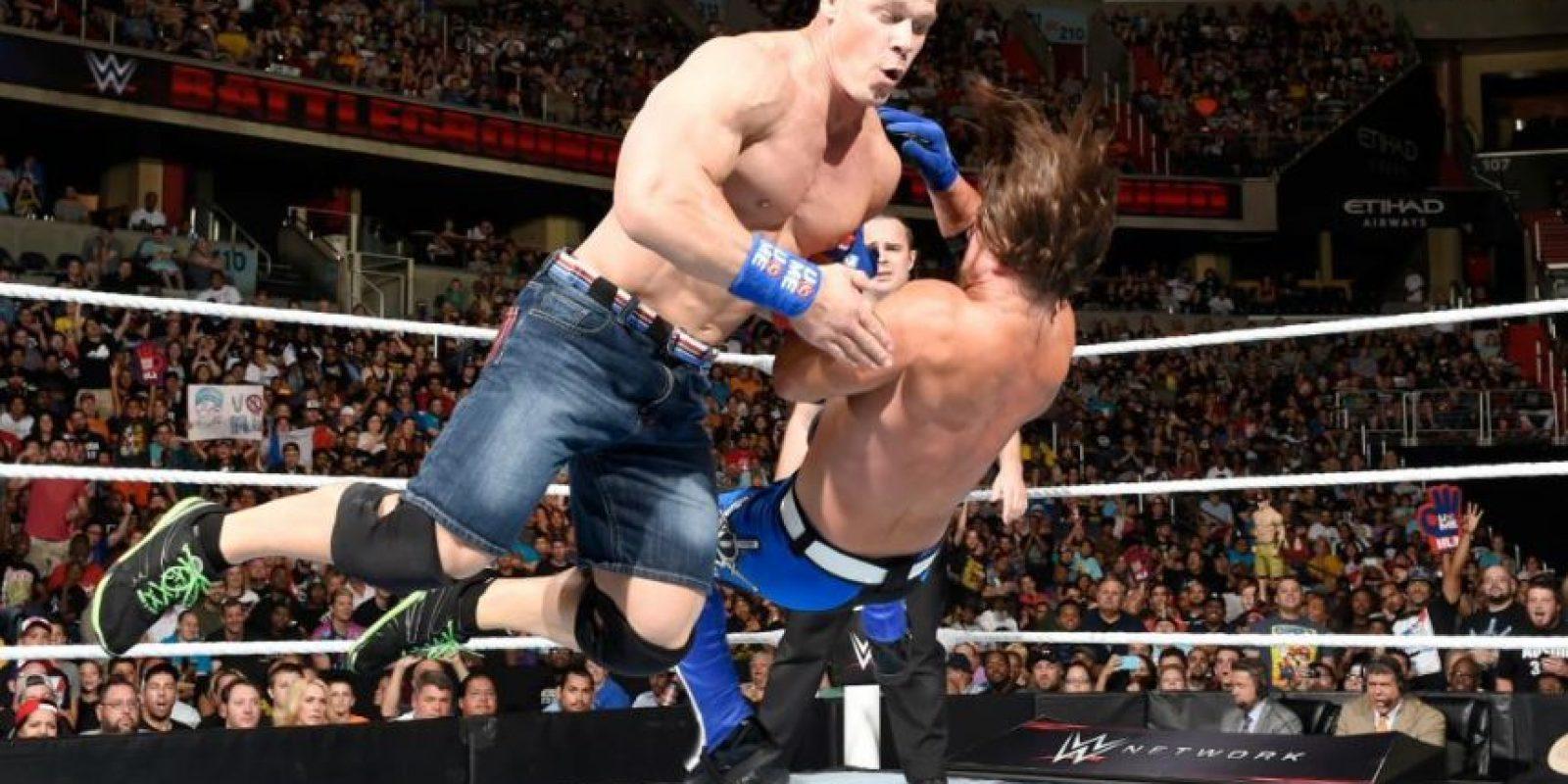 John Cena, Enzo Amore y Big Cass vencieron a The Club (AJ Styles, Karl Anderson y Luke Gallows) Foto:WWE. Imagen Por: