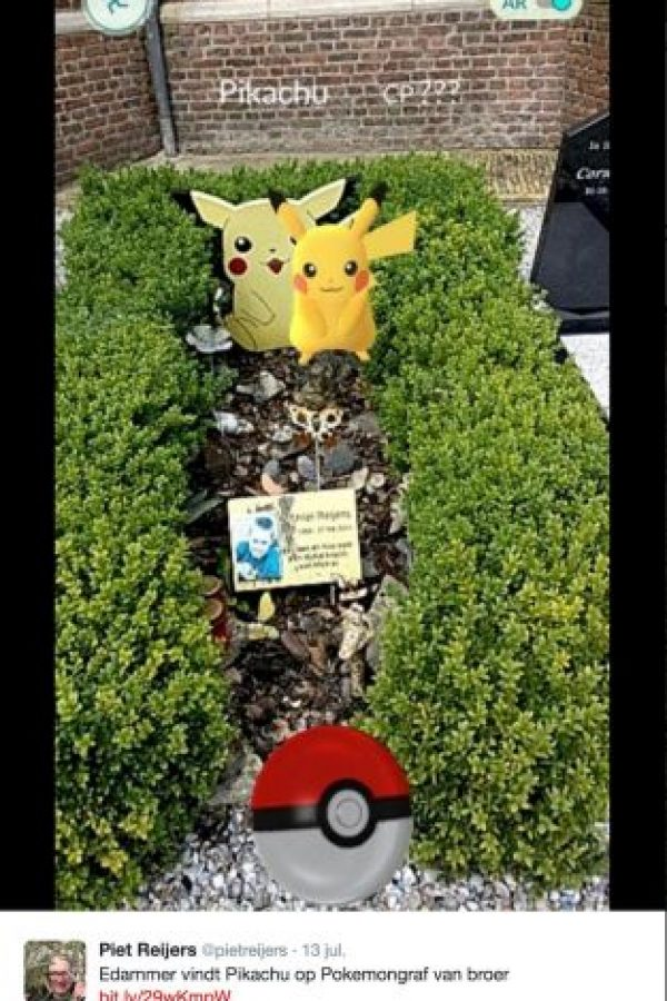 Esta fue la foto que conmovió a los jugadores de Pokémon Go Foto:twitter.com/pietreijers. Imagen Por: