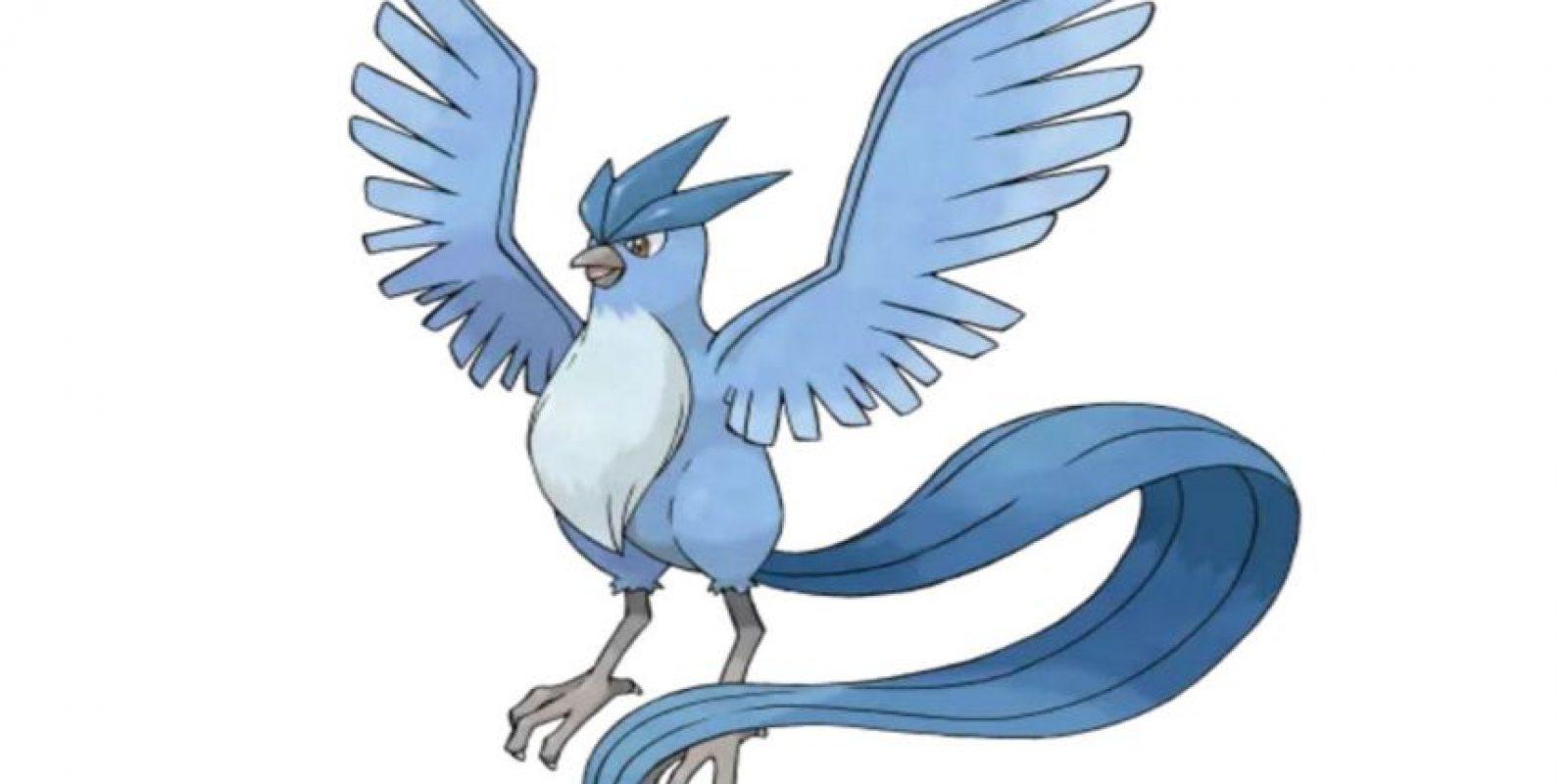 5.- Articuno, imagen del equipo azul y ave legendaria. Foto:Pokémon. Imagen Por: