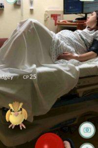 Él atrapaba un Pidgey mientras su mujer daba a luz. Foto:Pokémon Go. Imagen Por: