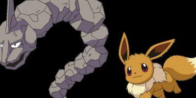 Onix y Eevee Foto:Pokémon. Imagen Por: