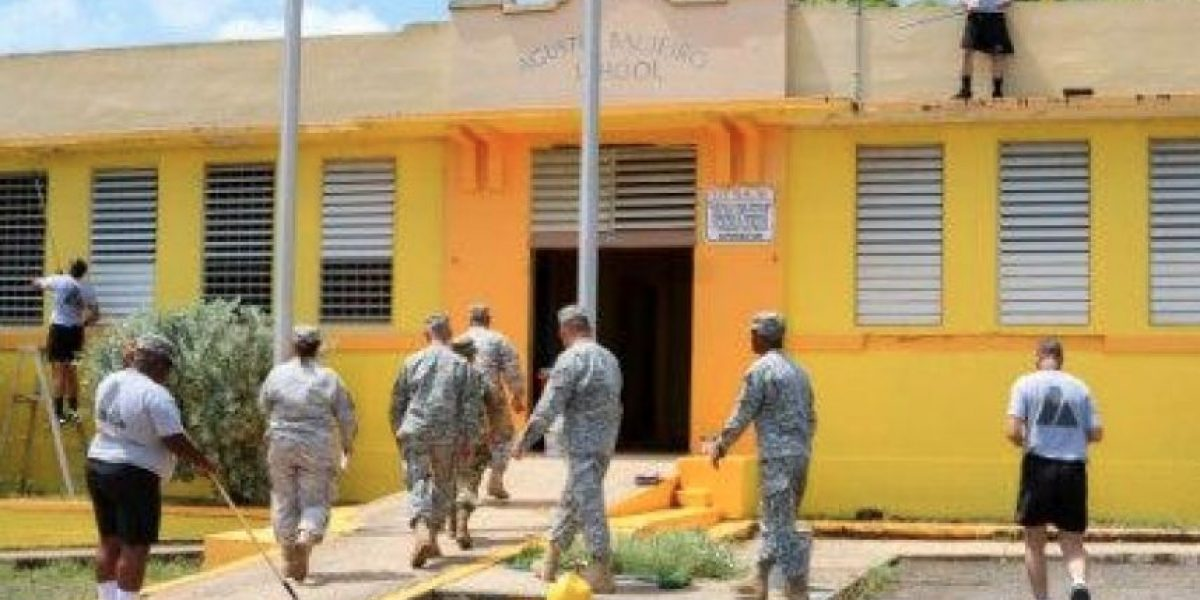 Guardia Nacional y Comando Estatal dan mano amiga a escuelas