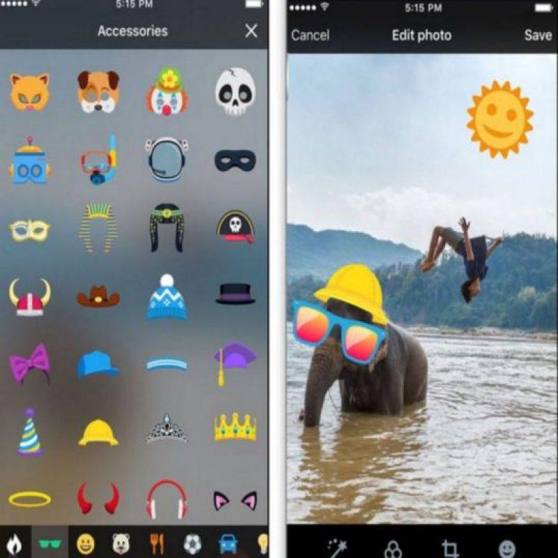 Otra función que también implementó Facebook fue la de los stickers. Foto:Play Store. Imagen Por: