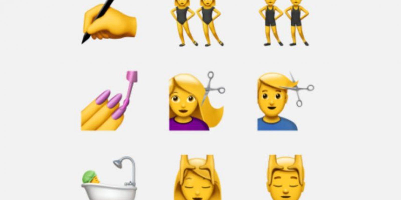 Esta es la nueva cara de los conocidos emojis. Foto:Apple. Imagen Por: