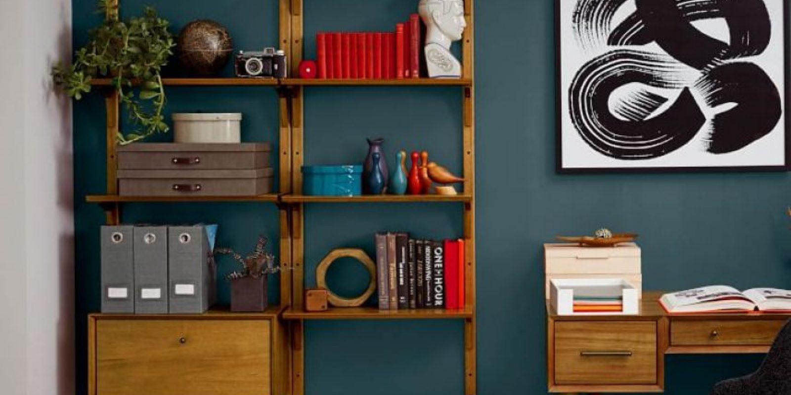 Mid-Century Wall Shelving + Cabinet Set Foto:West Elm. Imagen Por: