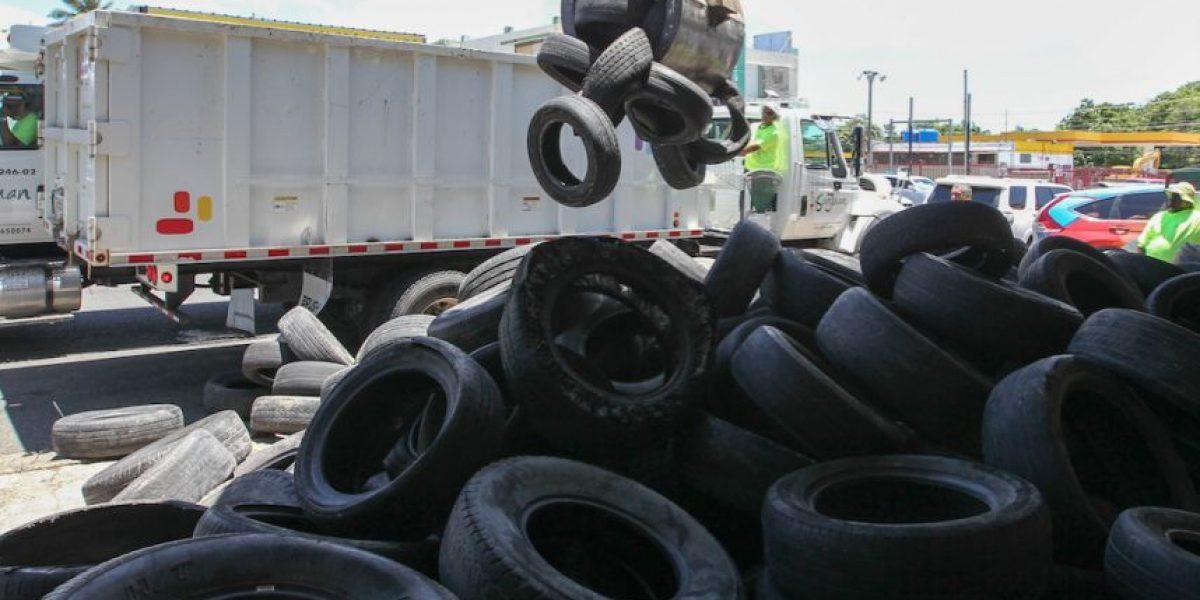 Recogen más de 10 mil neumáticos en San Juan