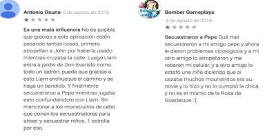 Comentarios en la Play Store Foto:Play Store. Imagen Por: