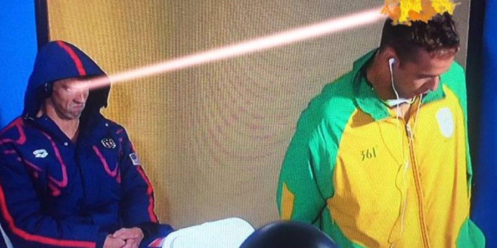 Los mejores memes por la cara de enfado de Michael Phelps Foto:Twitter. Imagen Por: