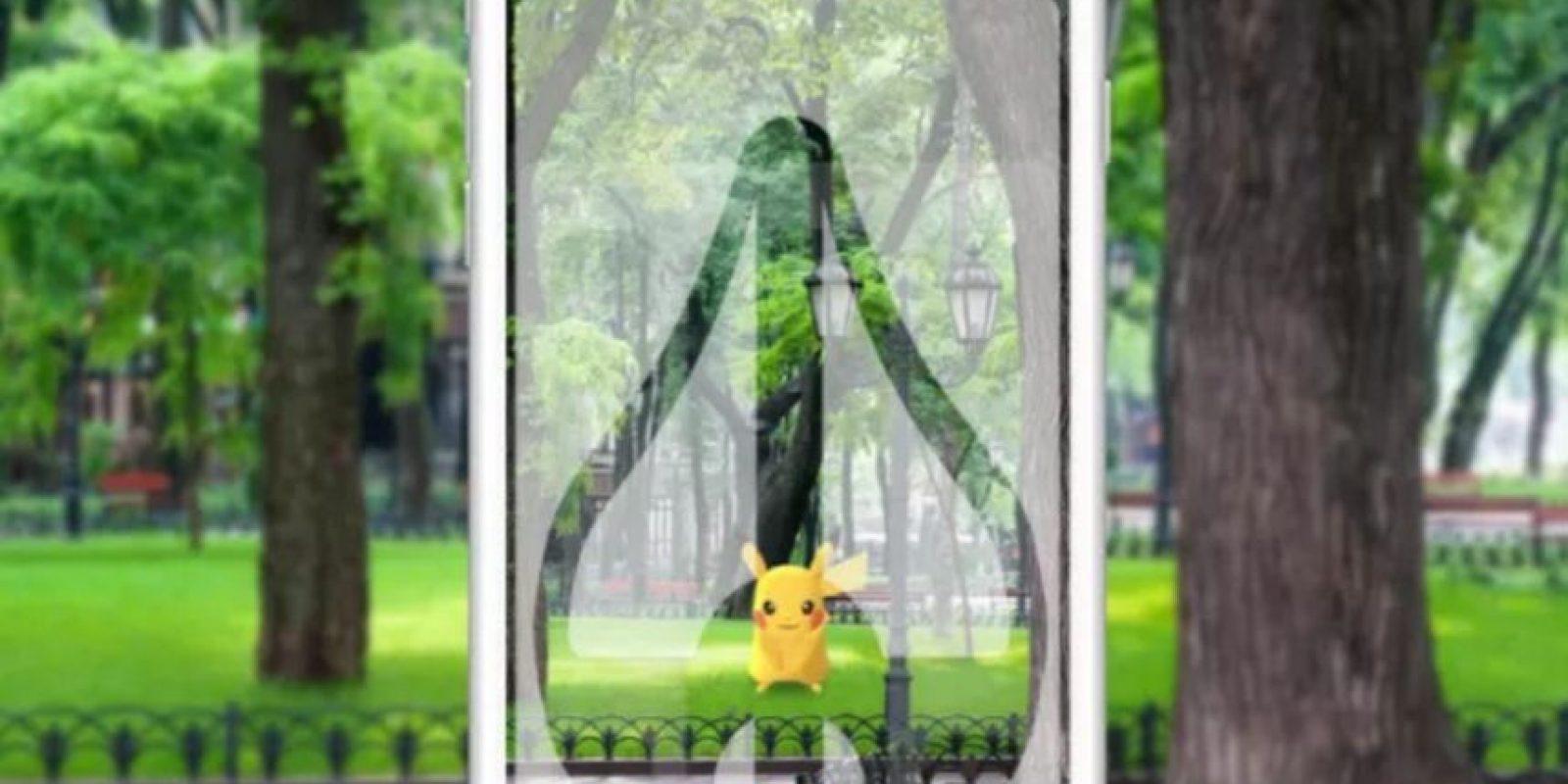 Así se ve el protector en un celular. Foto:Supershot Go. Imagen Por: