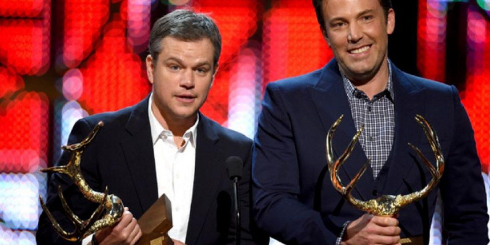 Con su amigo del alma, Matt Damon. Foto:vía Getty Images. Imagen Por: