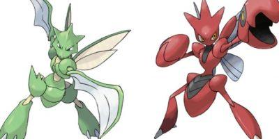Scyther – Scizor. Foto:Pokémon / Nintendo. Imagen Por: