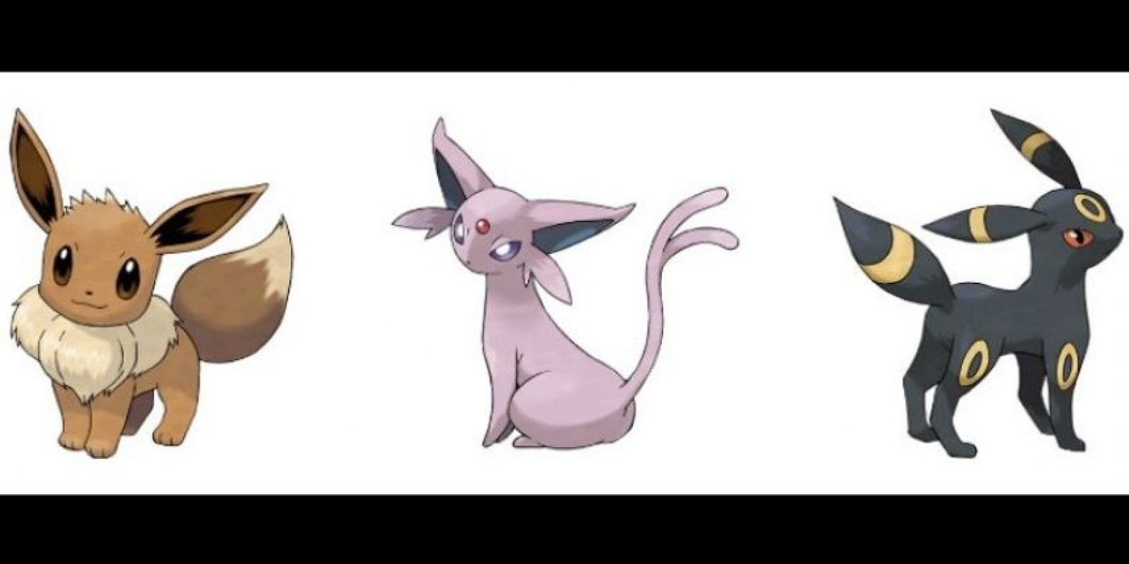 Eeve – Espeon – Umbreon. Foto:Pokémon / Nintendo. Imagen Por: