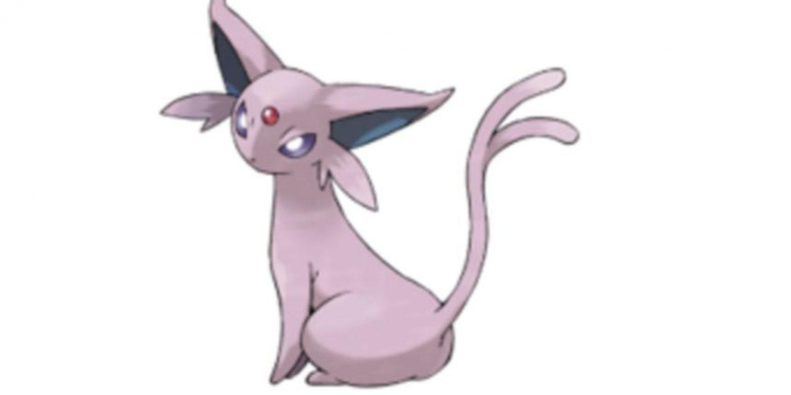 La nueva evolución de Eevee: Espeon. Foto:Wiki Pokémon. Imagen Por: