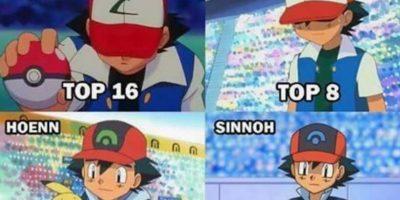 Ash, en cada una de sus derrotas. Foto:The Pokemon Company. Imagen Por: