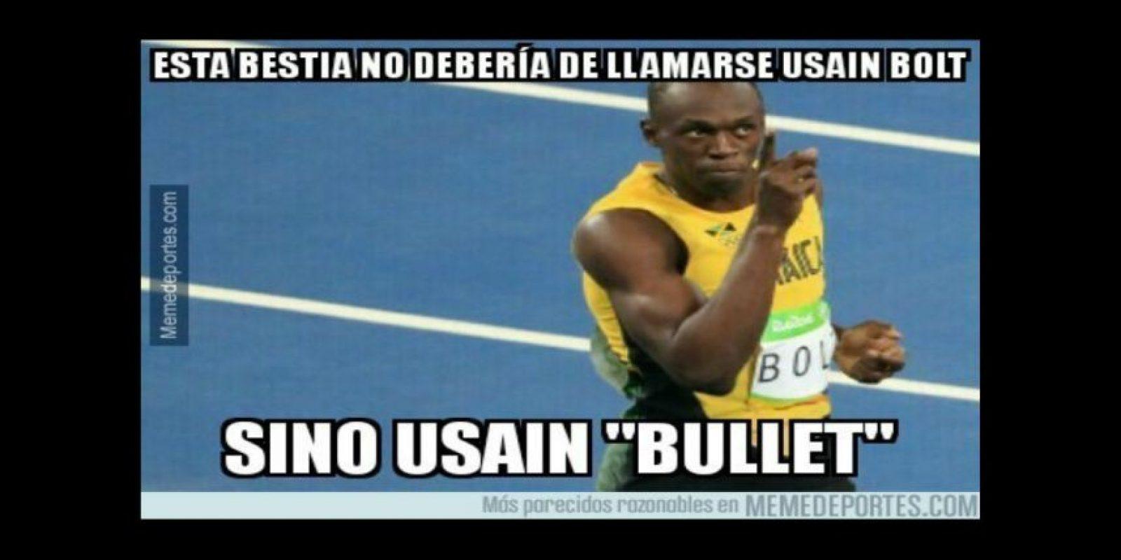 Los mejores memes del triunfo de Bolt en 200 metros Foto:Twitter. Imagen Por: