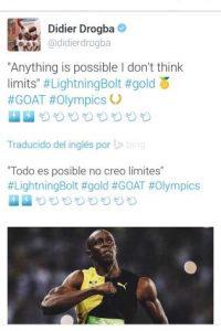 """""""Todo es posible, no pienso en límites"""", escribió Didier Drogba. Foto:Twitter. Imagen Por:"""