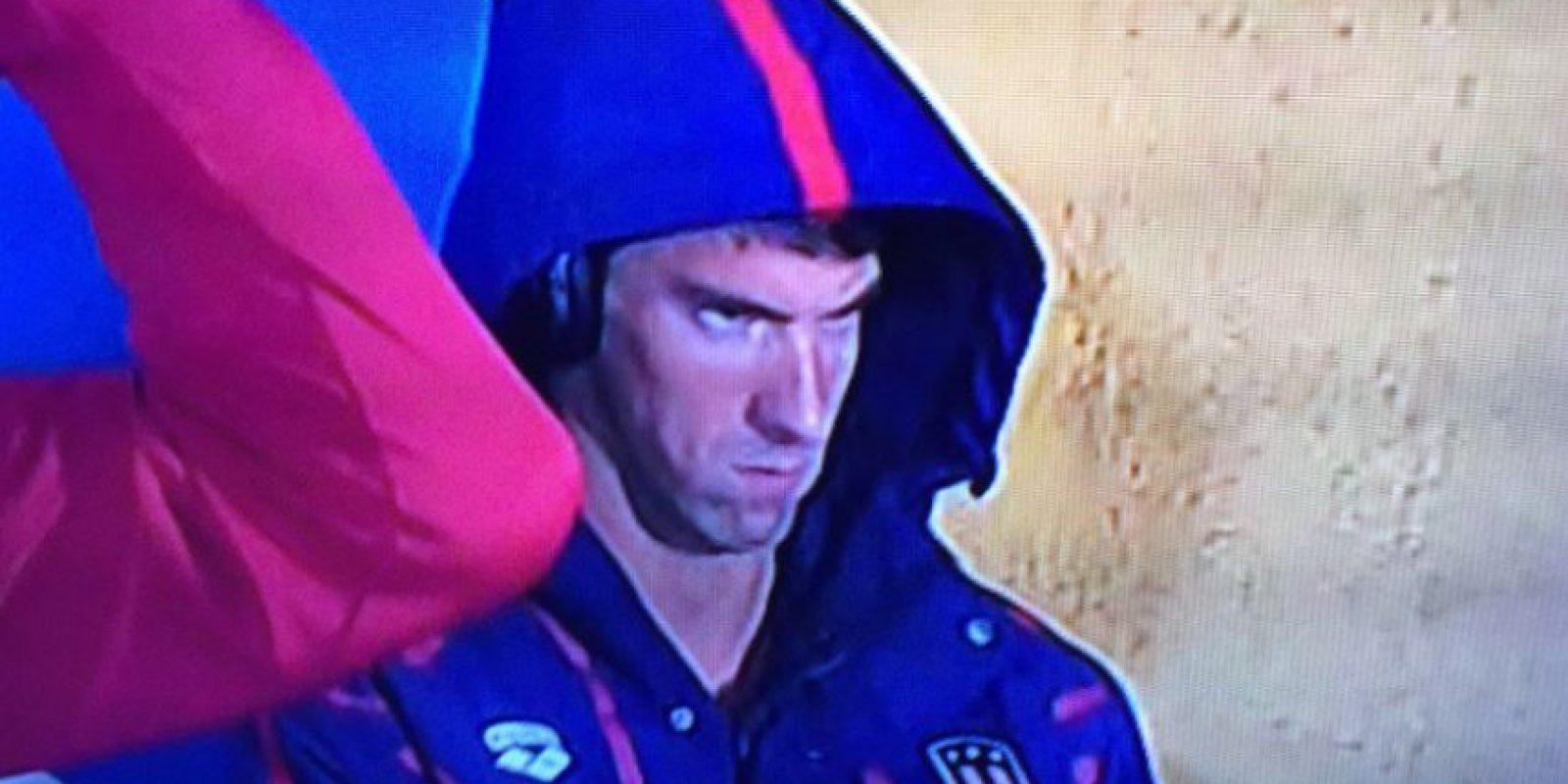 El primer gran meme de Rio 2016 fue esta cara de enfado de Michael Phelops. Foto:Vía twitter.com. Imagen Por: