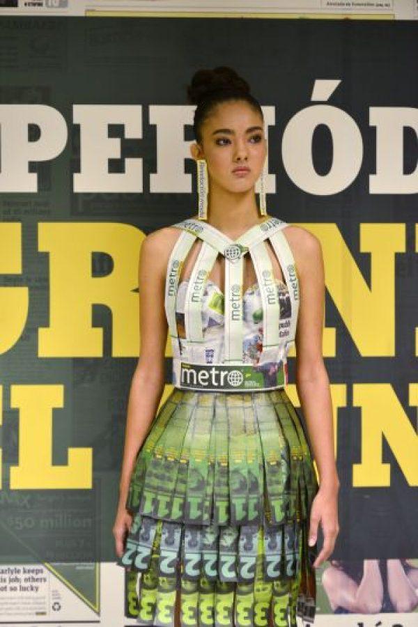 Su diseño impresionó al jurado al ser el vestido que mejor incorporaba la marca de Metro Puerto Rico. Foto:Dennis Jones. Imagen Por: