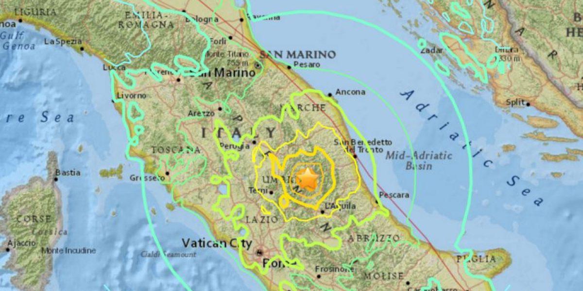 Así se vivió el momento del fuerte terremoto en Italia