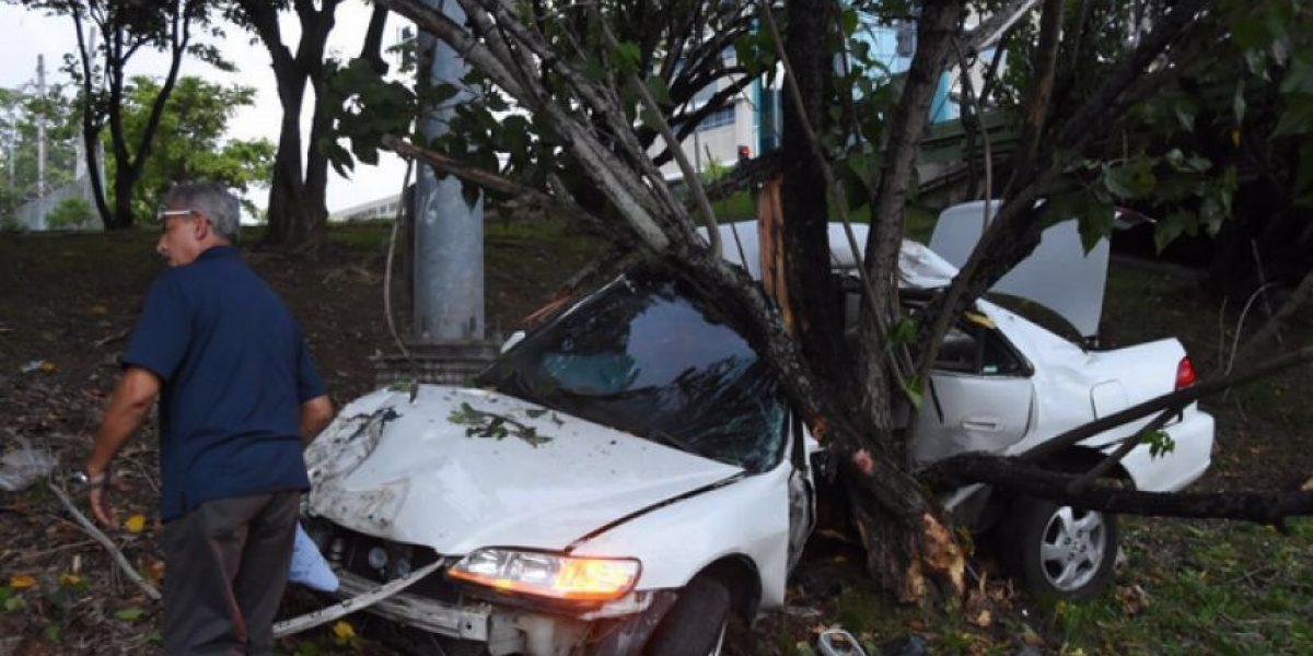 Aparatoso accidente en expreso Las Américas
