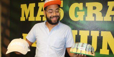 Luis Rodríguez es el creador de la marca de gorras Suxess. Foto:David Cordero Mercado. Imagen Por:
