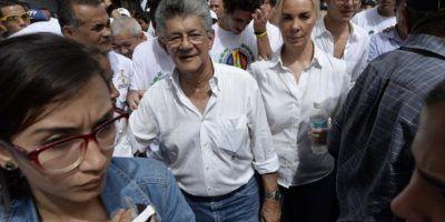 También marchó Henry Ramos Allup, presidente de la Asamblea Nacional Foto:AFP. Imagen Por: