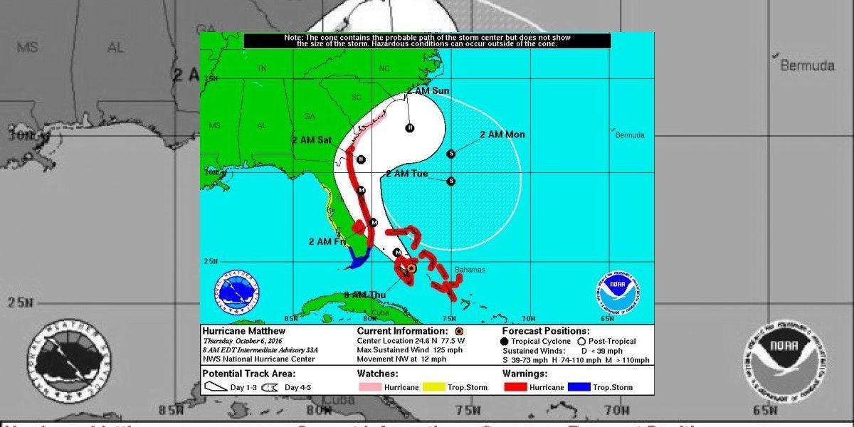 Matthew no atacará directamente Carolina del Norte