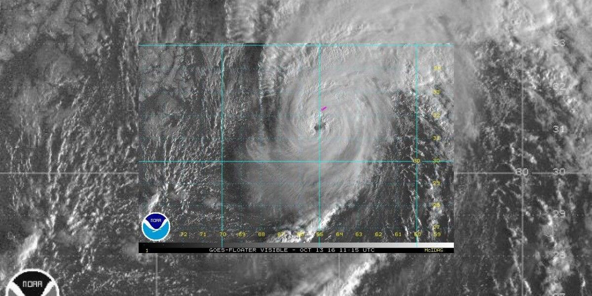 Poderoso huracán Nicole se acerca a las Bermudas