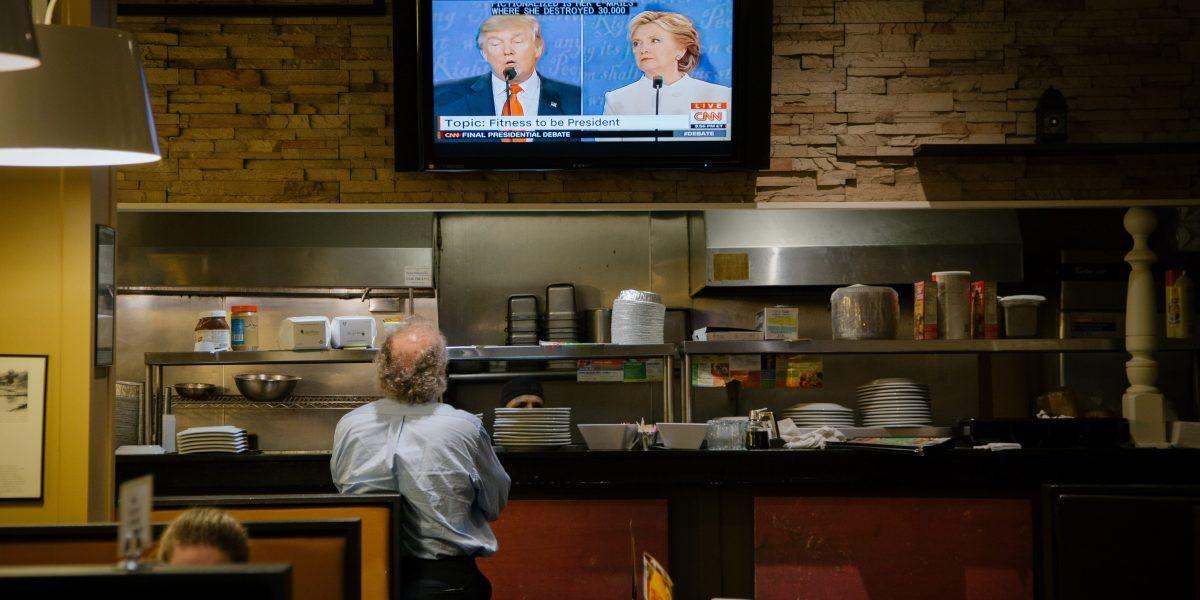 Clinton gana con menor margen de los tres debates, según CNN