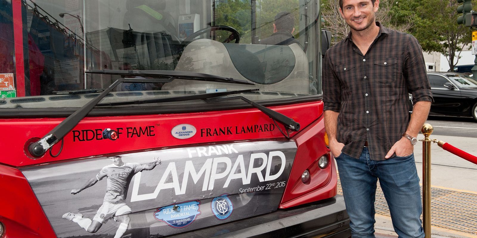 David Villa, Frank Lampard, Andrea Pirlo NYCFC Ride Of Fame Induction Ceremony. Imagen Por:
