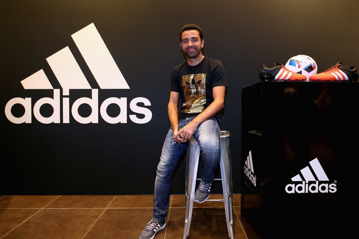 Xavi opens adidas zone in the new flagship Go-Sports Store in the Mall of Emirates Dubai. Imagen Por: