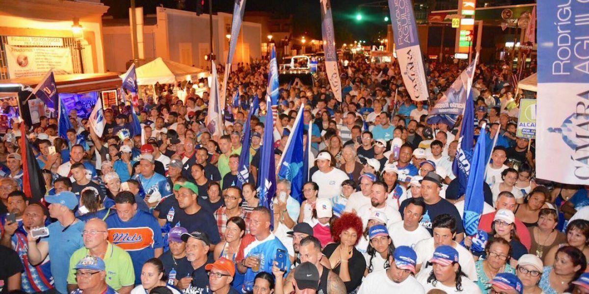 Miles de adherentes al PNP llegan a Ponce para cierre regional