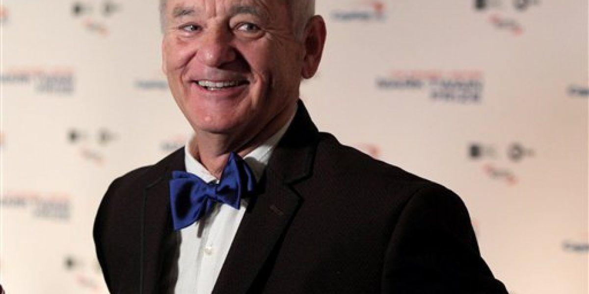 Bill Murray recibe máximo honor a la comedia
