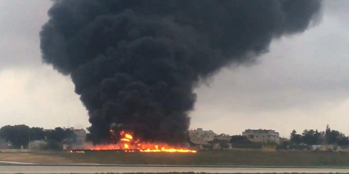 Se estrella avioneta en Malta