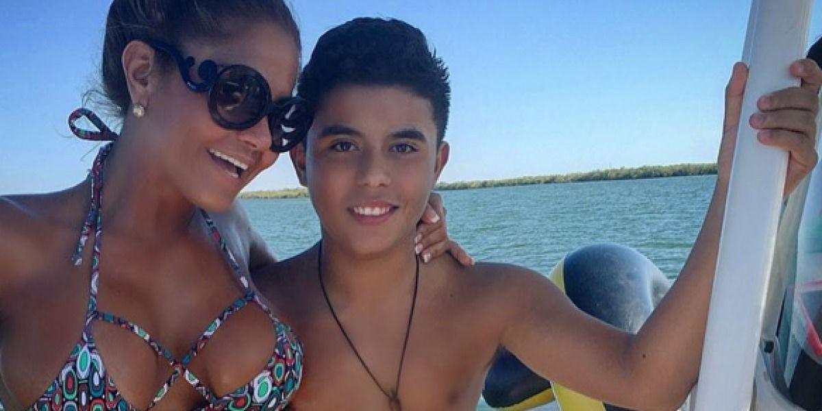 ¿Fuerte esta foto de Maripily con su hijo?