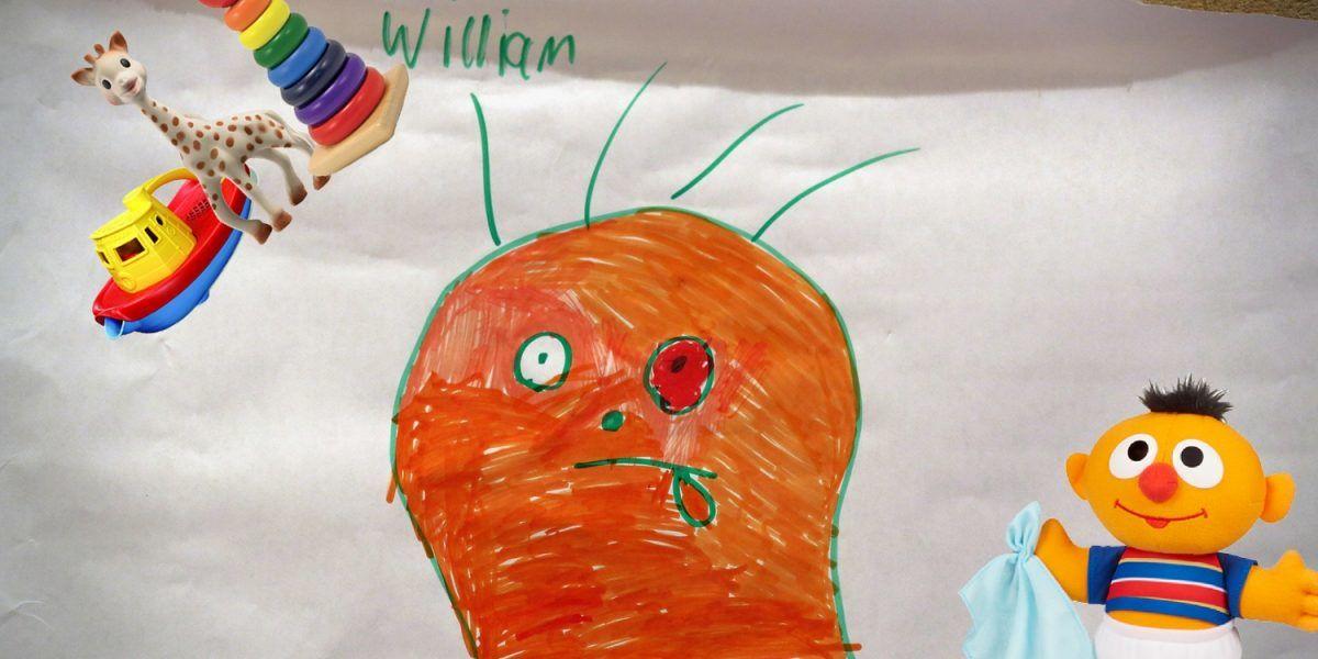 Padre da vida a extraños dibujos de su hijo