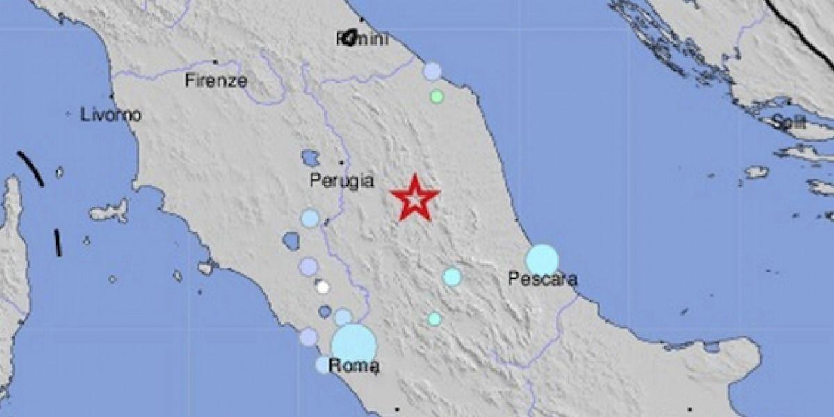 Reportan sismo de 5.4 en Italia